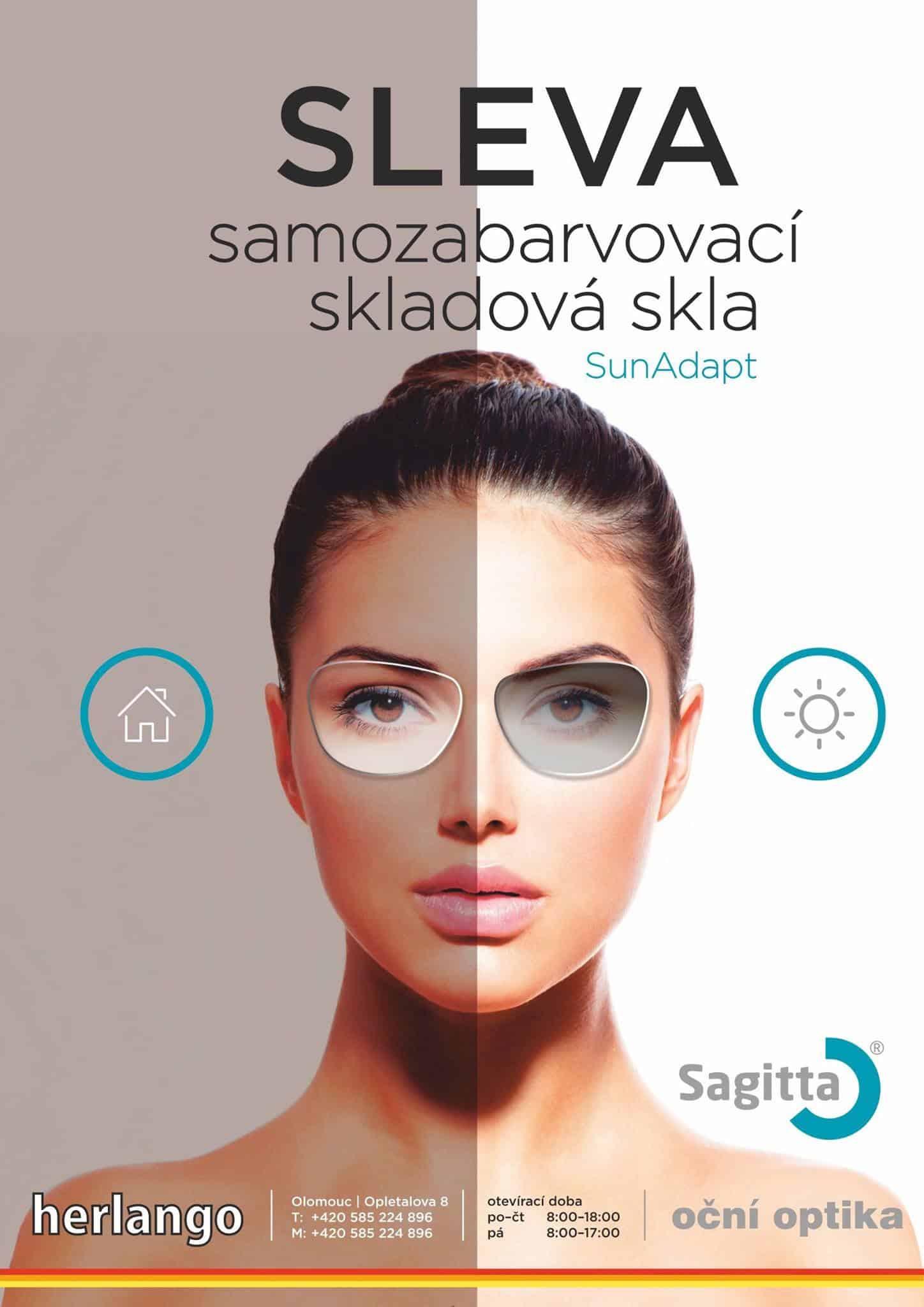 Sluníčko nám už pěkně vykukuje🌤. Udělejte si radost se samozabarvovacími skly 👓 SunAdapt 🕶 s antireflexní úpravou. - dokonalá ochrana před sluncem i UV zářením - v aktivním zabarveném stavu dosahuje absorpce cca 80% - antireflexní úprava na povrchu skla snižuje odlesky Zastavte se k nám na pobočku v Olomouci, rádi Vám poradíme